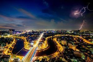 ho chi minh, vietnam - 25 november 2015 zonsondergang