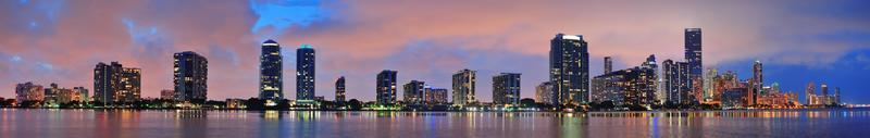 Miami night scene photo