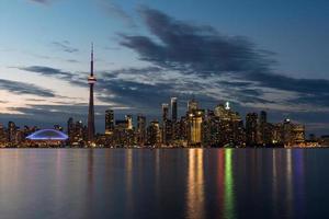 Horizonte de Toronto al atardecer