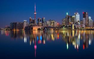 Toronto City Skyline Reflection photo