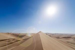 destello de lente de duna de arena
