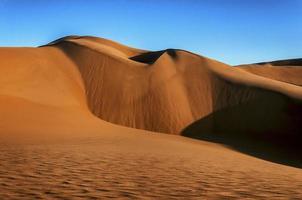 la mer de sable namib composée de nombreuses dunes de sable.