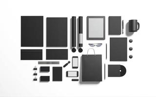 Black black  branding elements to replace your design photo