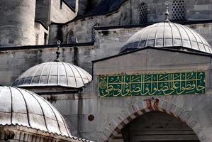 La mezquita azul en Estambul, Turquía foto