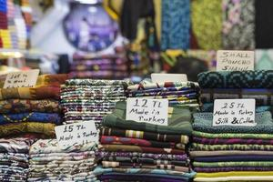 Market stall with turkish crafts at Grand Bazaar in Istanbul,