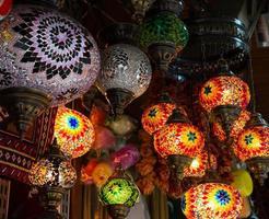 Bright multi-colored lamp photo