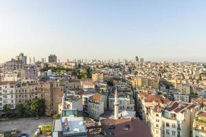 Vista aérea de Estambul al atardecer