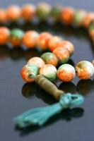 Prayer Beads on black  background