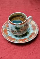Turkish coffee in a chinesse pot