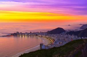 Playa de Copacabana en Río de Janeiro. Brasil