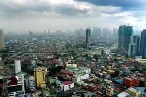 manila cityscape, philippines photo
