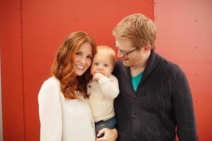 familia de tres foto