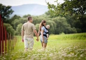 Family on the farm photo