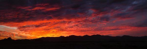 puesta del sol del sudoeste foto