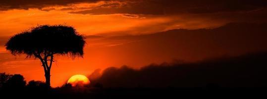 puesta de sol ardiente