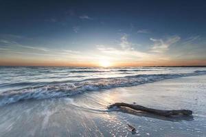 puesta de sol del mar