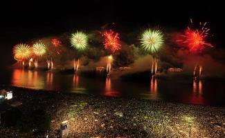 festa de véspera de ano novo na praia de copacabana