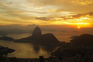 Sunrise in Rio de Janeiro with sugarloaf in the foreground, photo