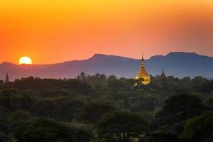 sunset in Bagan photo
