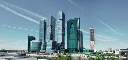 Modern skyscrapers in Moscow photo