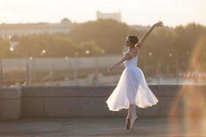 bailarina en el centro de moscú foto