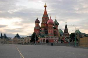 St. Basil's Cathedral on Red Square in Moscow, Russia photo