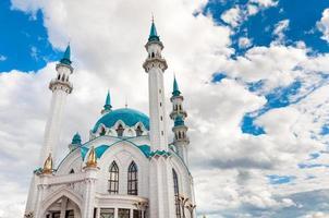 La mezquita de Kul Sharif en el Kremlin de Kazán, Tatarstán, Rusia