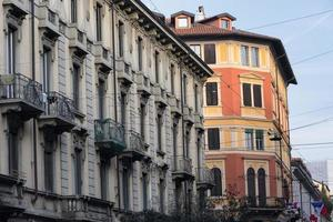 Milan (Italy): old residential building photo