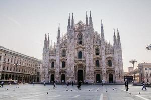 the cathedral in the center of Milan