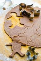 gingerbread cookie dough with men