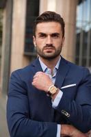 Portrait of businessman on the street photo