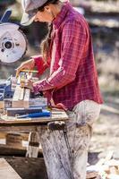 Female carpenter. photo