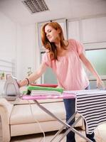 Female Ironing