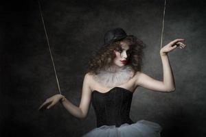 fantoche de palhaço sensual feminino