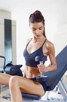 Female in gym d