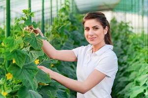 Portrait of young female agriculture worker