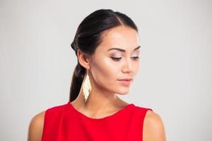Portrait of a pretty female model photo