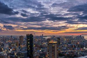 Sunset over Osaka photo