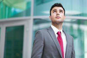 Handsome smiling businessman portrait photo