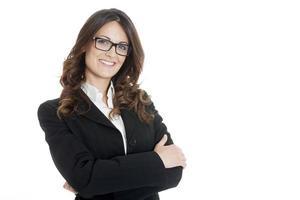 Retrato de una joven y atractiva mujer de negocios foto