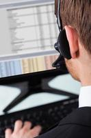 Call Center Representative Wearing Headset photo