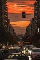 Traffic in Athens, Greece photo