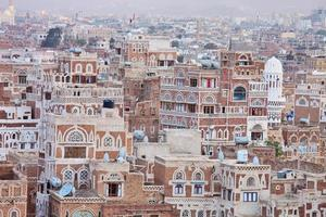 A lot of traditional Yemen homes photo