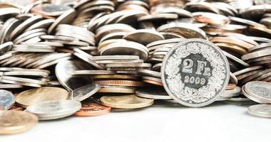 moneda franco suizo foto