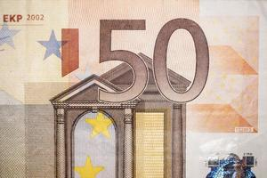 bill of fifty euro photo