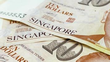 Singapore Dollars Cash Paper Bank Note. Asian monetary currency.