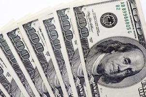 dollars on white background photo