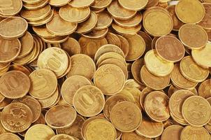 Gold money stack macro photo