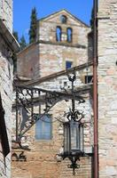 Medieval street lamp photo