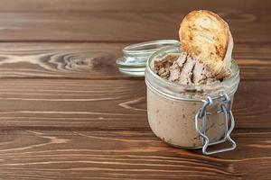 Liver pate with sandwiches photo